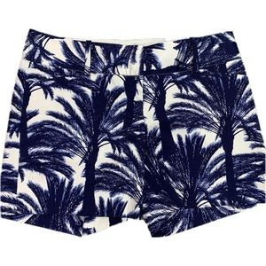 The Limited Navy & Cream Drew Fit Palm Tree Shorts
